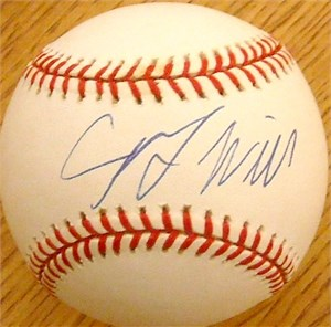 George Will autographed National League baseball