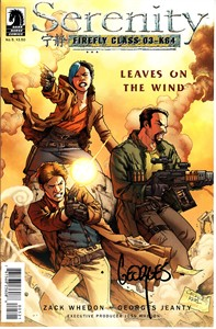 Georges Jeanty autographed Serenity Leaves on the Wind Dark Horse comic book