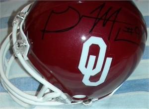 Gerald McCoy autographed Oklahoma Sooners mini helmet