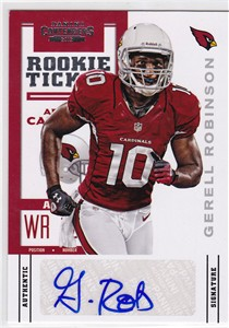 Gerell Robinson certified autograph 2012 Panini Contenders Rookie Card