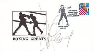 Gerry Cooney autographed 1995 boxing Jack Dempsey cachet envelope