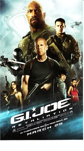 G.I. Joe Retaliation movie 3x5 promo card (Dwayne Johnson)