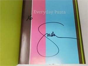 Giada De Laurentiis autographed Giada's Family Dinners hardcover cookbook