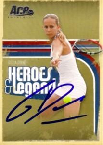 Gisela Dulko autographed 2006 Ace Authentic tennis card