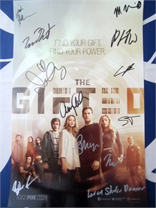Gifted cast autographed 2017 Comic-Con poster (Amy Acker Stephen Moyer)