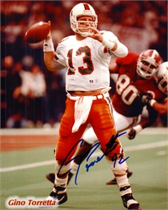 Gino Torretta autographed Miami Hurricanes 8x10 photo