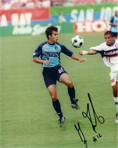 Giuseppe Galderisi autographed MLS Tampa Bay Mutiny 8x10 photo