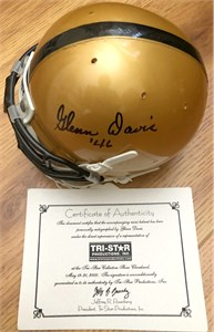 Glenn Davis autographed Army mini helmet dated '46
