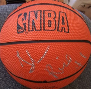 Glen Rice autographed Spalding NBA mini basketball