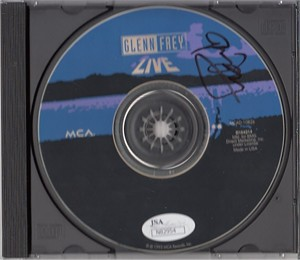 Glenn Frey autographed Live CD (JSA authenticated)