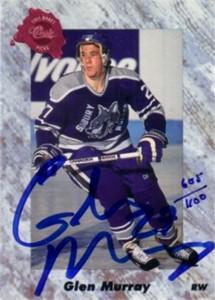 Glen Murray certified autograph 1991 Classic card