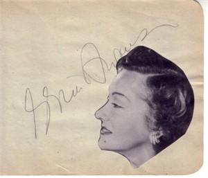Gloria Swanson & Jean Hersholt autographed autograph album or book page