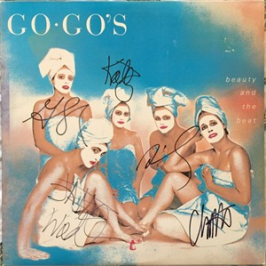 The Go-Gos autographed Beauty and the Beat record album (Belinda Carlisle)