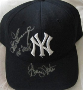 Goose Gossage & Graig Nettles autographed New York Yankees cap or hat