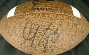Golden Tate autographed Wilson NCAA football