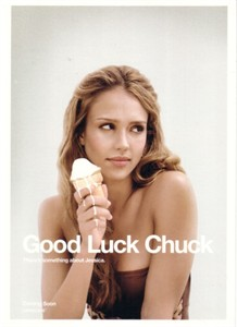 Good Luck Chuck Jessica Alba 5x7 Comic-Con promo card