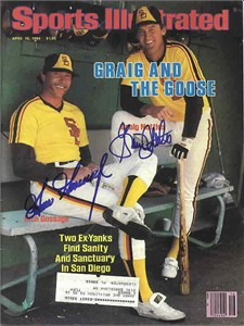 Goose Gossage & Graig Nettles autographed San Diego Padres 1984 Sports Illustrated