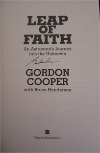 Gordon Cooper autographed Leap of Faith hardcover book
