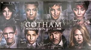 Gotham cast autographed 2014 Comic-Con poster (David Mazouz Ben McKenzie Jada Pinkett Smith)
