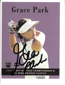 Grace Park autographed 2004 Nike golf card