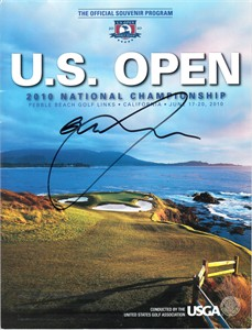 Graeme McDowell autographed 2010 U.S. Open golf program