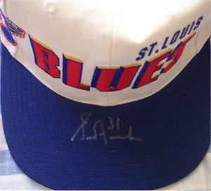 Grant Fuhr autographed St. Louis Blues cap or hat