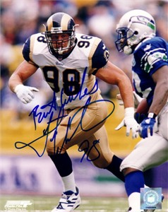 Grant Wistrom autographed St. Louis Rams 8x10 photo