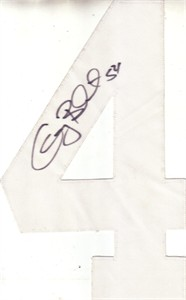 Greg Biekert autographed Minnesota Vikings jersey number