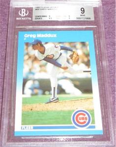 Greg Maddux Chicago Cubs 1987 Fleer Update Rookie Card #68 BGS 9 MINT