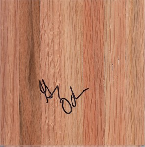 Greg Oden autographed basketball hardwood floor
