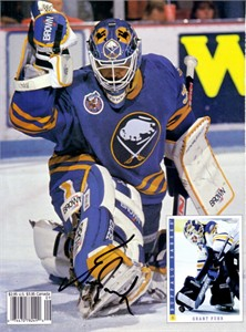 Grant Fuhr autographed Buffalo Sabres Beckett Hockey back cover