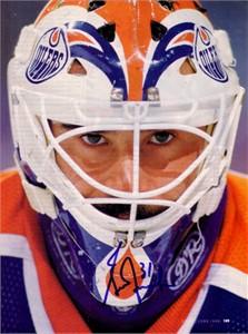 Grant Fuhr autographed Edmonton Oilers magazine photo