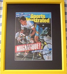Greg LeMond autographed 1990 Tour de France Sports Illustrated cover matted & framed