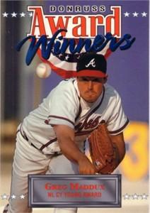 Greg Maddux Atlanta Braves 1994 Donruss Award Winners jumbo card (#/10000)