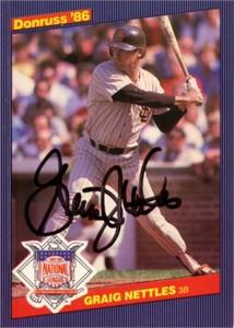Graig Nettles autographed San Diego Padres 1986 Donruss All-Stars card