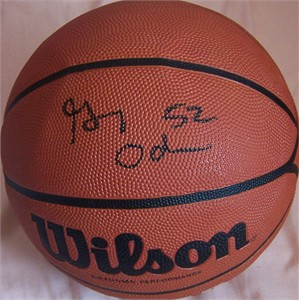 Greg Oden autographed Wilson NCAA full size basketball