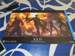 Guardians of the Galaxy 2 2016 Comic-Con exclusive promo Marvel 13x20 mini movie poster