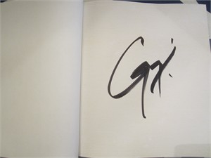 Guy Fieri autographed Family Food hardcover cookbook