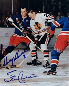 Harry Howell & Stan Mikita autographed 8x10 photo