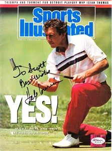 Hale Irwin autographed 1990 U.S. Open Sports Illustrated cover JSA (personalized)