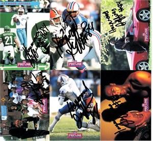 Haywood Jeffires certified autograph Houston Oilers 1992 Pro Line card