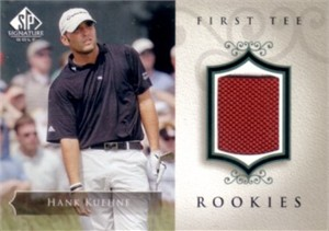 Hank Kuehne 2004 SP Signature golf First Tee Rookies tournament worn shirt card