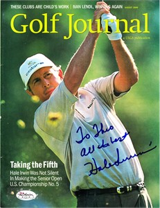 Hale Irwin autographed 2000 U.S. Senior Open Golf Journal magazine cover JSA (personalized)