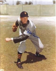 Hal Newhouser autographed 8x10 Detroit Tigers photo