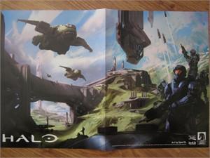 Halo & Tomb Raider 2014 Comic-Con Dark Horse Comics double sided promo poster