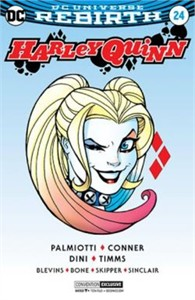Harley Quinn issue #24 DC comic book 2017 Comic-Con exclusive silver foil cover variant