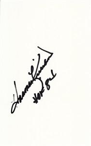 Harmon Killebrew autographed index card inscribed HOF 84