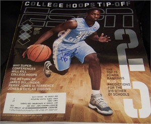 Harrison Barnes autographed North Carolina Tar Heels 2011 ESPN Magazine