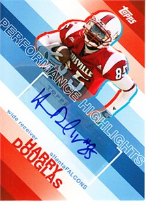 Harry Douglas certified autograph Louisville Cardinals 2008 Topps Rookie Card