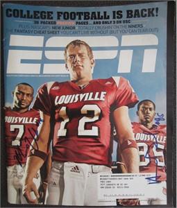 Harry Douglas & Mario Urrutia autographed Louisville Cardinals 2007 ESPN Magazine